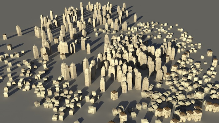 City Far Away - rendered with mental ray