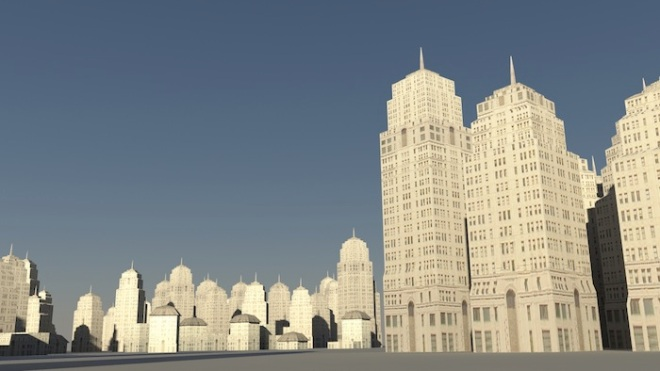 City Street View - rendered with mental ray