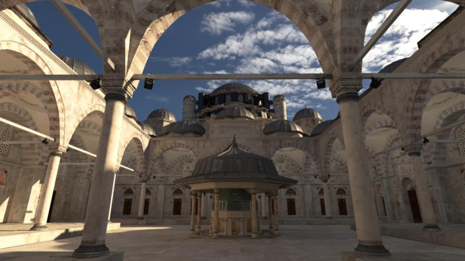 Mosque - mental ray 3.12 GI GPU diffuse
