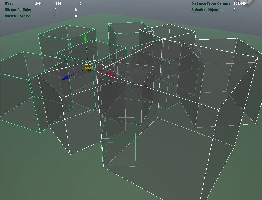 maya model view - mental ray assembly instances
