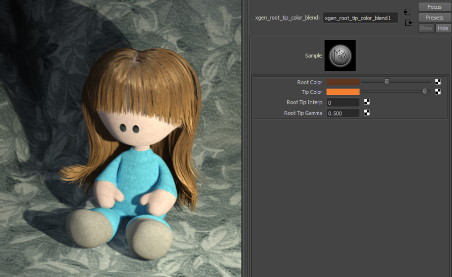 doll with mib_illum_hair_x shader
