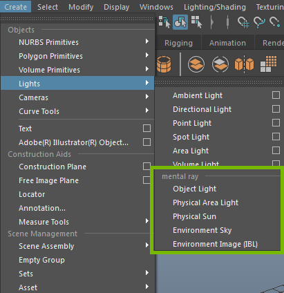 createLightMenu