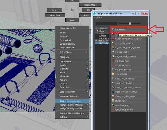 Create MDL material node