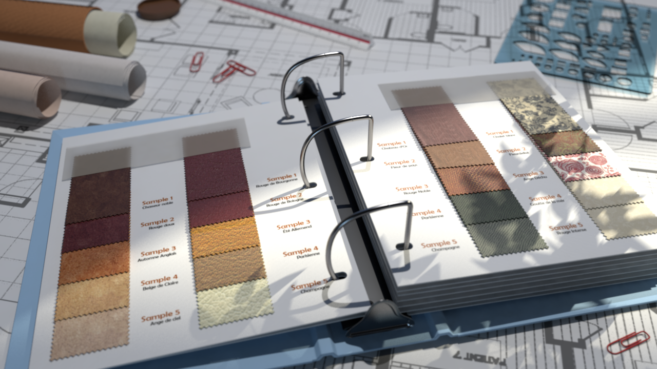 MDL materials rendered with mental ray