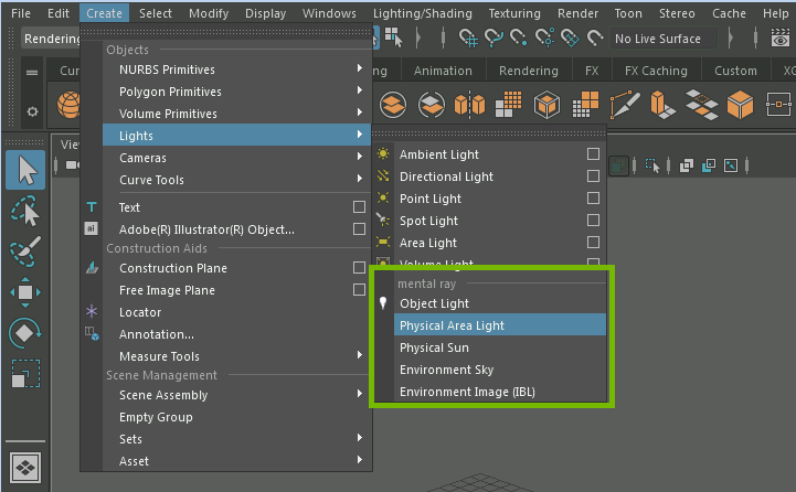 Using the Physical Area Light in Maya 2016 – Inside mental ray