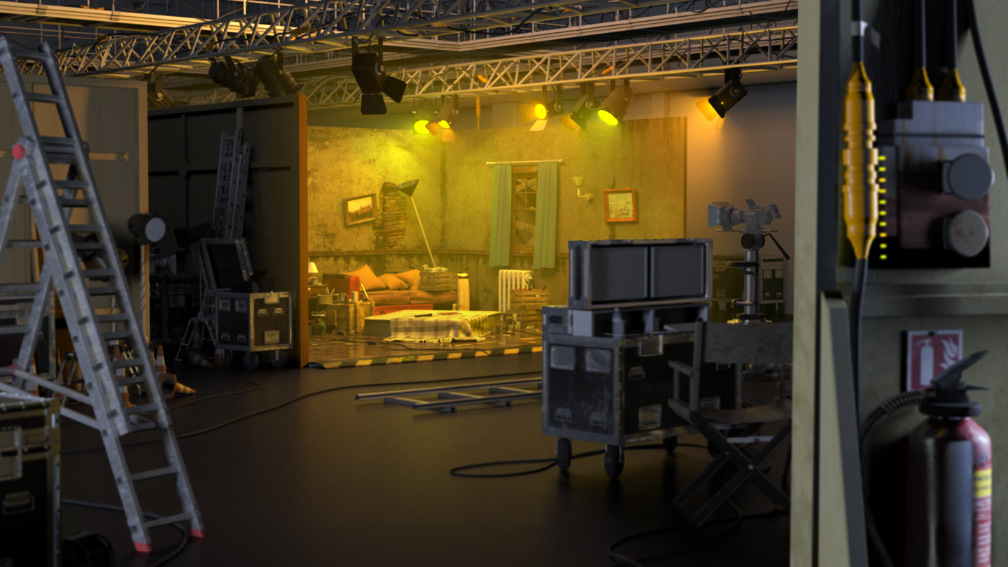 Filmset scene rendered with mental ray 3.14